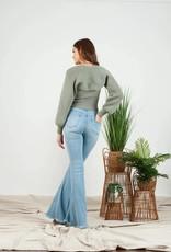 moss bustier & bolero sweater set