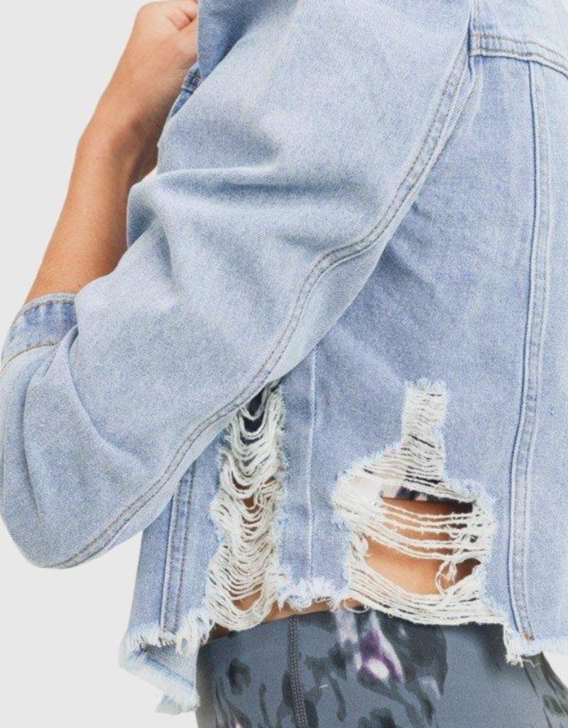 mona distressed denim jacket