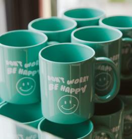 LivyLu don't worry be happy mug - green