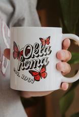 LivyLu oklahoma butterfly mug - white