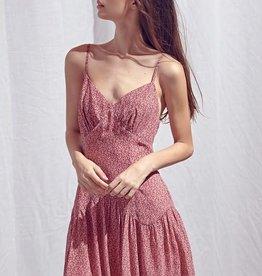 floral sweetheart mini dress