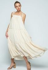 ruffle tiered maxi dress