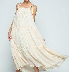 ruffle tiered maxi dress LC