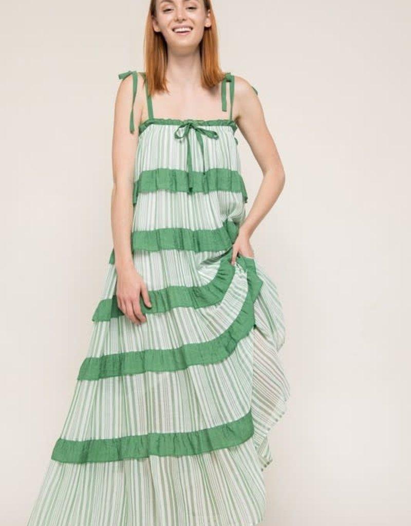 kelly square neck maxi dress