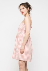smocked tubetop mini dress
