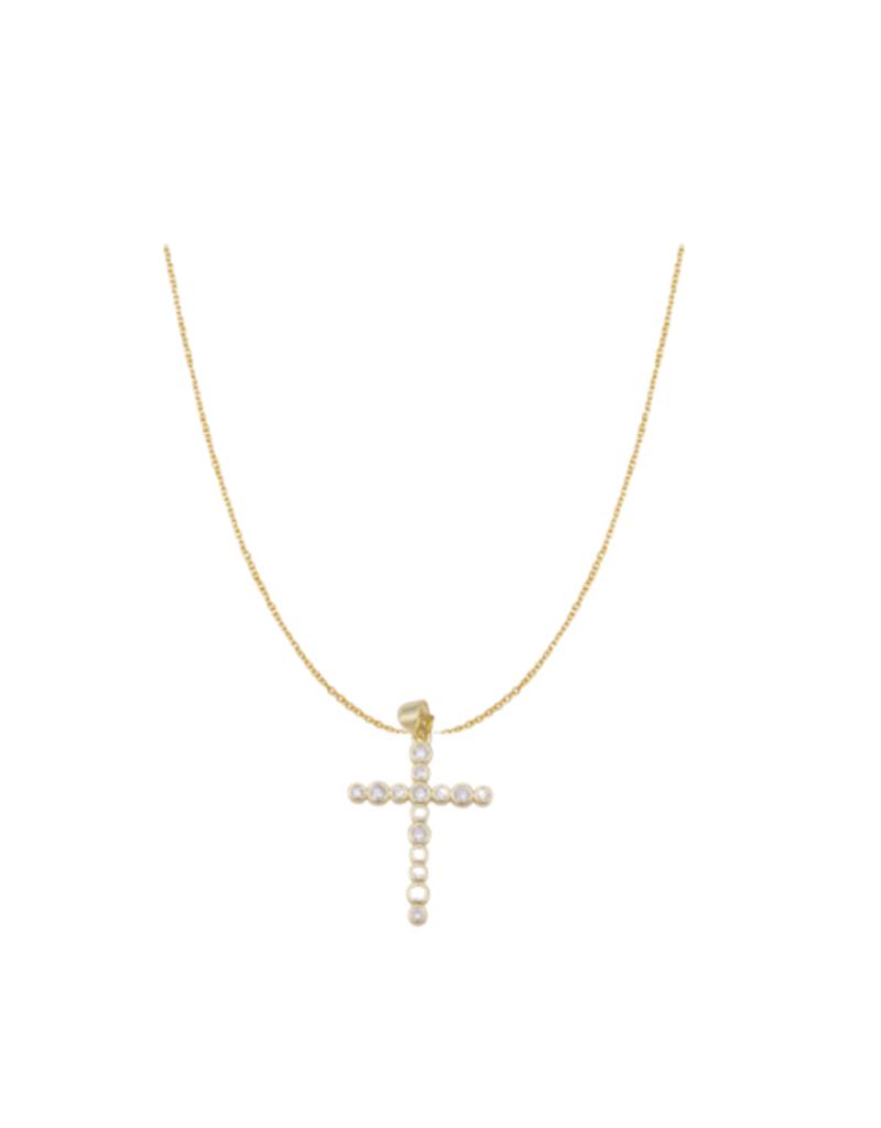 bddesignsandco pave cross necklace