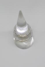 bddesignsandco silver beaded pearl ring