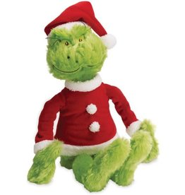 the grinch in santa suit