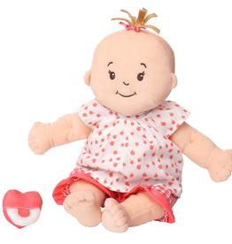 baby stella peach doll & brown hair