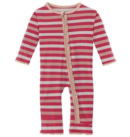 kickee pants hopscotch stripe muffin ruffle coverall with zipper