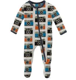 kickee pants moms camera footie with zipper
