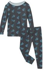 kickee pants paper airplanes long sleeve pajama set