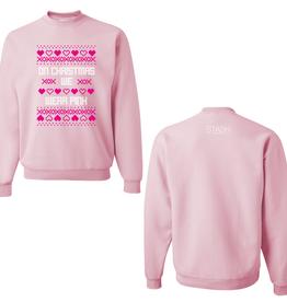 on christmas we wear pink sweatshirt