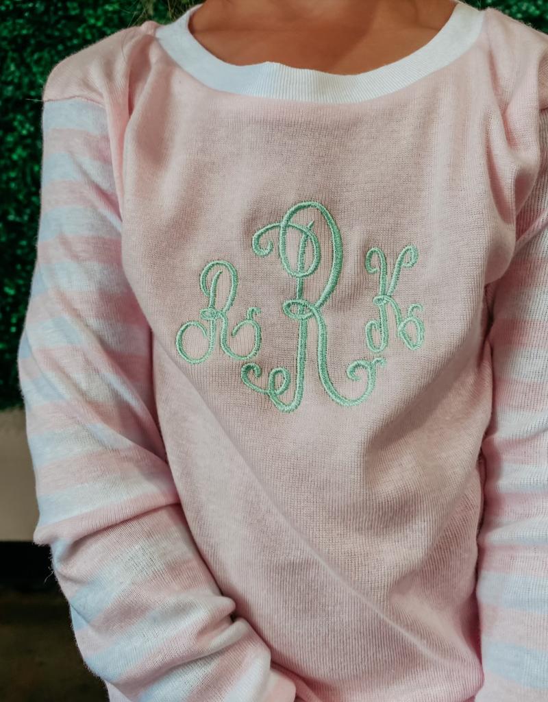 monogrammed pajamas