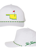 tee town master rope hat - white