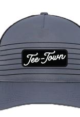 striped it tee town trucker hat