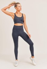 multi ribbed mineral washed seamless high waist leggings