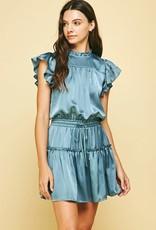 pinch lexie satin mini dress