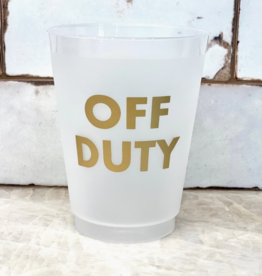 hapbee paperie off duty frosted shatterproof cups