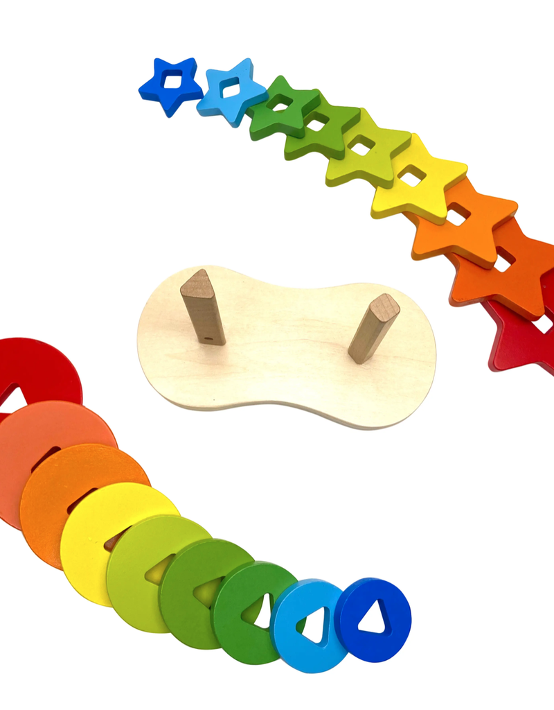 Magia Galaxy star and ring double wooden stacker
