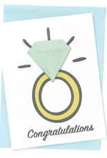 feeling smitten congratulations bath fizzy card