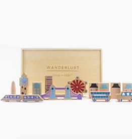 once kids wanderlust wood & flet themed playset