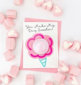 feeling smitten make my day sweeter bath fizzy card