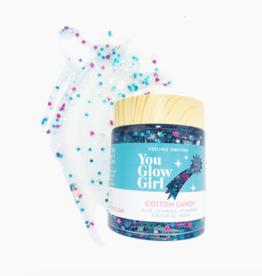 feeling smitten you glow girl cotton candy glitter mask