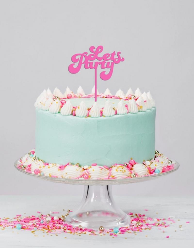 festive gal acrylic cake topper