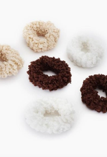 cotton fluffy hair ties set of 6