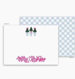 Pep & Pop merry christmas trees flat greeting card set of 10