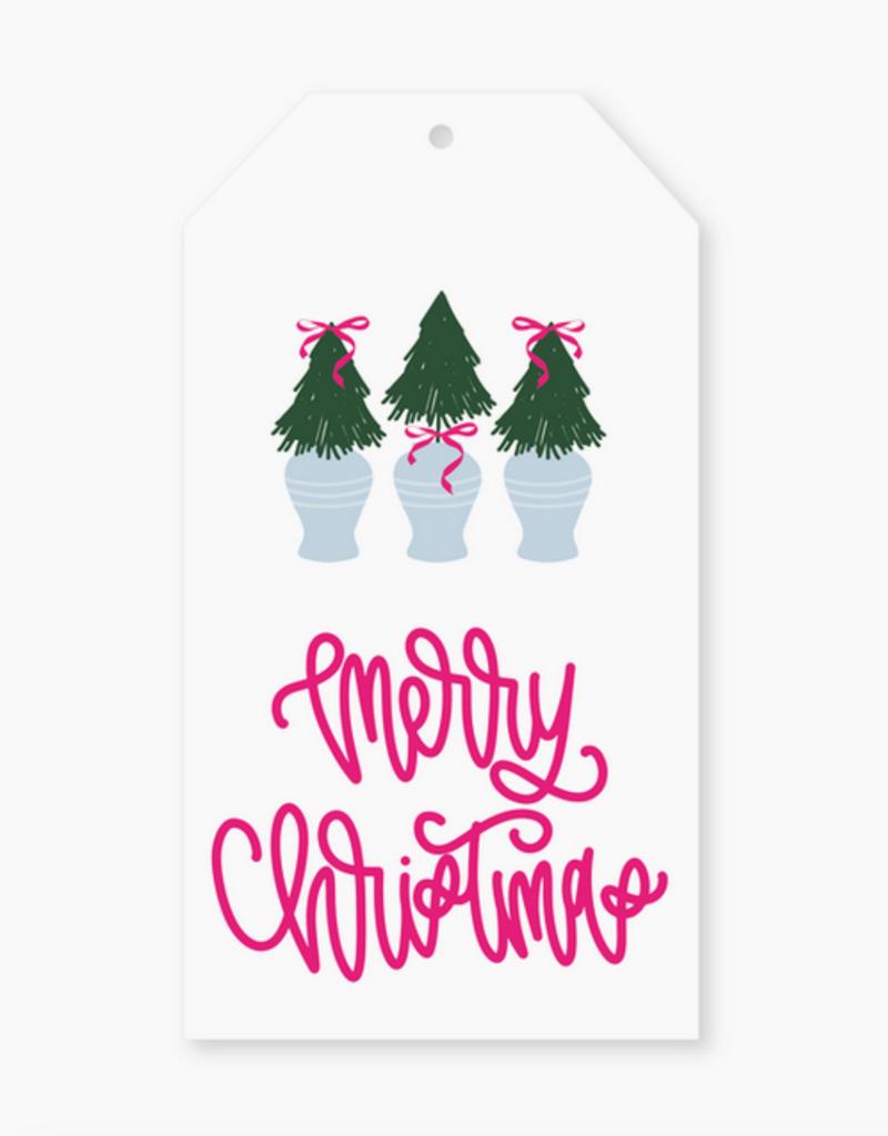 Pep & Pop merry christmas trees gift tag set of 12