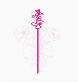 Pep & Pop cheers drink stirrer set of 6 - pink