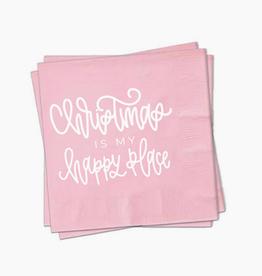 Pep & Pop christmas is my happy place napkin set