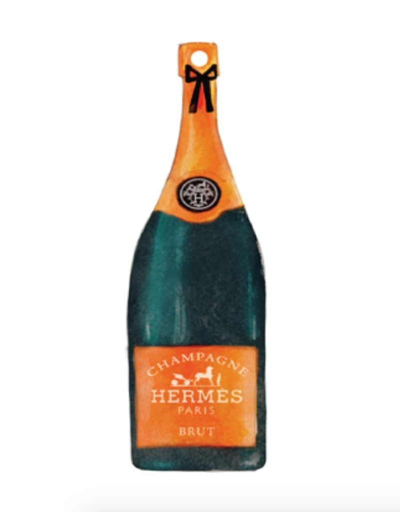 hermes champagne ornament