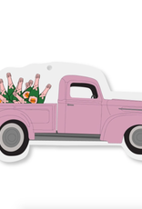 pink champagne truck ornament