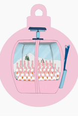 pink gondola ornament