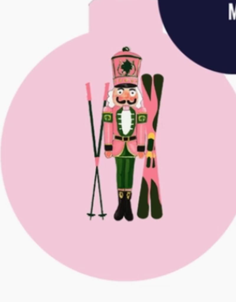 nutcracker skis ornament