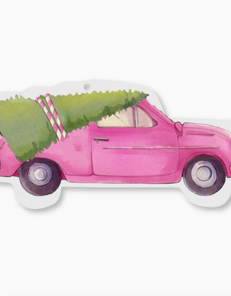 pink car ornament