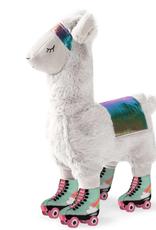 Fringe Studio llama on roller skates dog toy