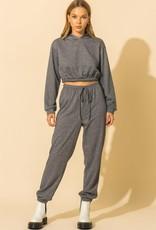cropped sweatsuit set