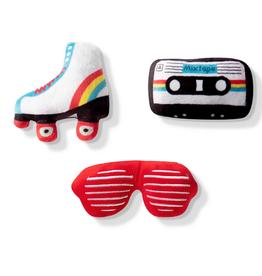 Fringe Studio 80s icons 3 piece dog toy set