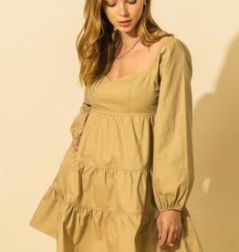 long sleeve tiered dress