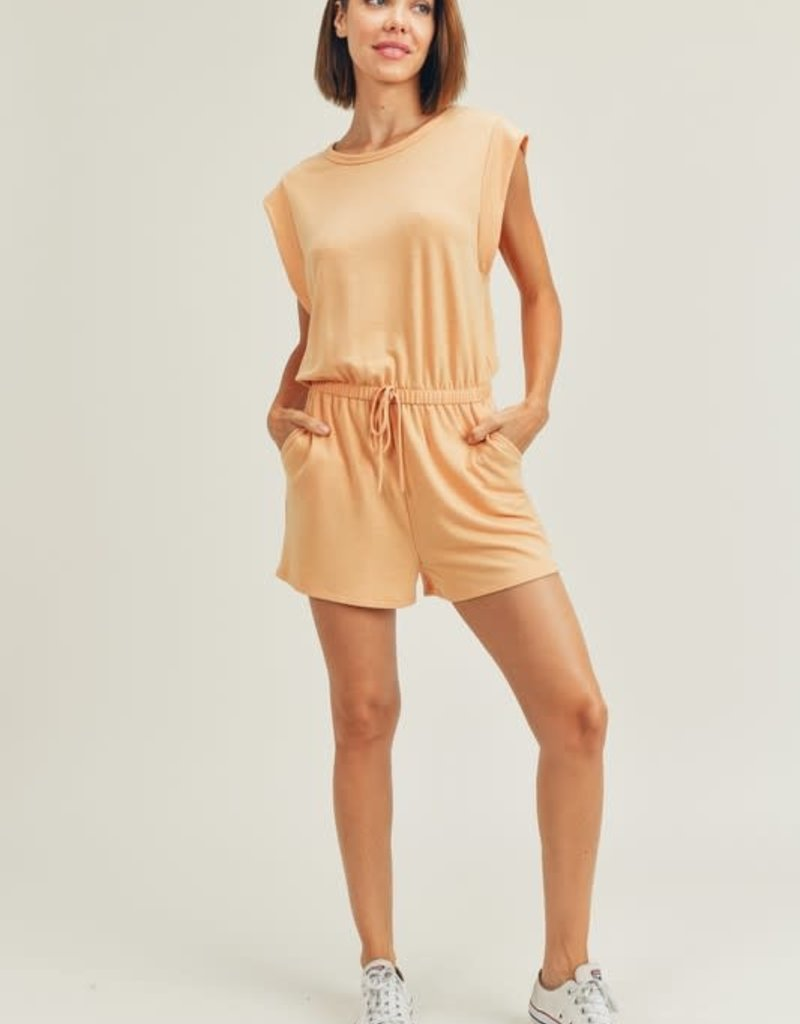 french terry muscle tank romper