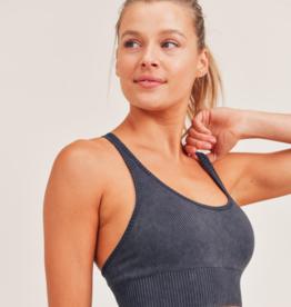 mona wash ribbed sport bra