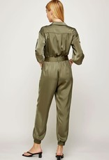 satin button up jumpsuit