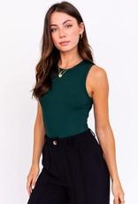 round neck sleeveless bodysuit