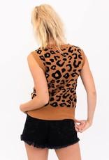cheetah sweater vest