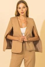 open cape blazer