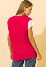 deep v neck oversized vest